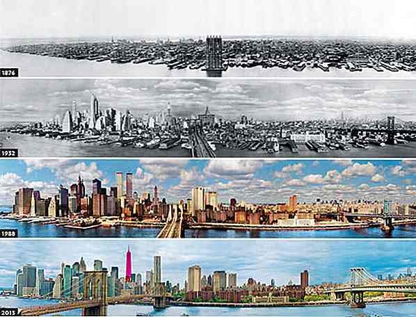 20 Skylines Of The World: Så Vs Now