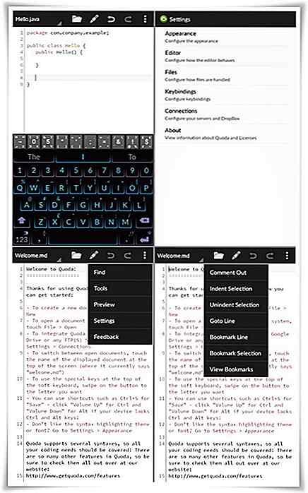 Gratis code-editors voor Android - Best Of