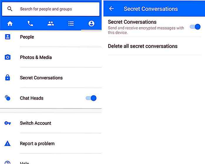 Facebook Messenger ora è dotato di crittografia end-to-end tramite Secret Conversation