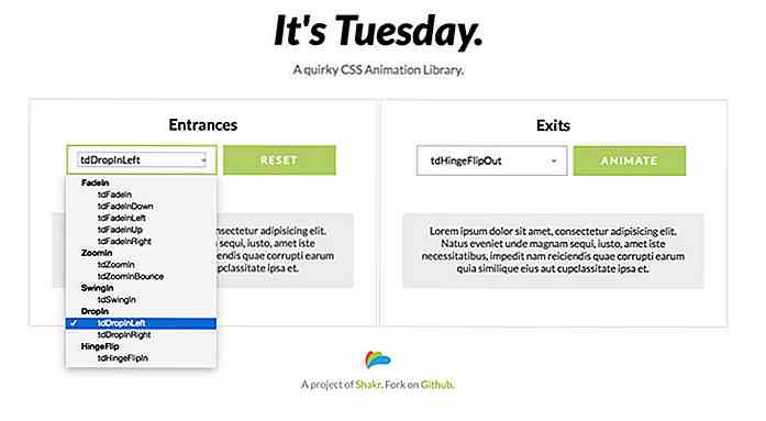 Tuesday.css er The Hottest Animation Library akkurat nå
