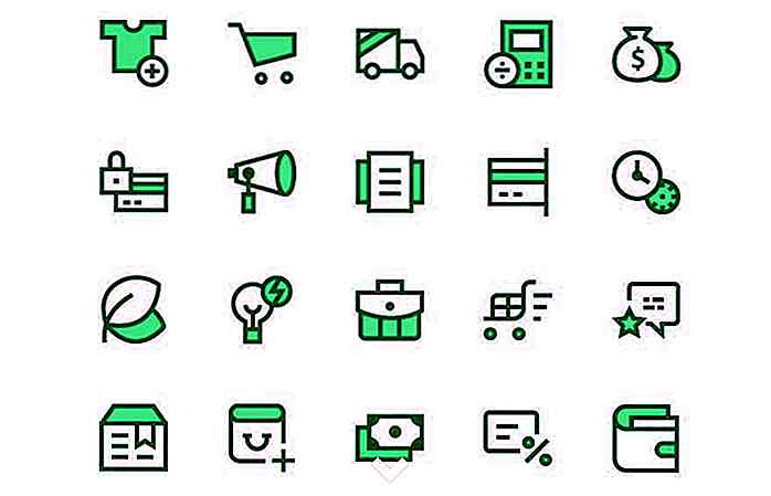 20+ Gratis E-commerce Icon Sets om te downloaden