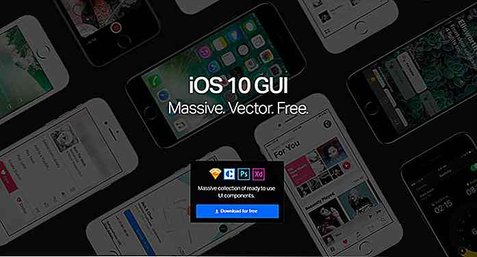 El kit Ultimate iOS 10 GUI para Sketch, Photoshop y Adobe XD