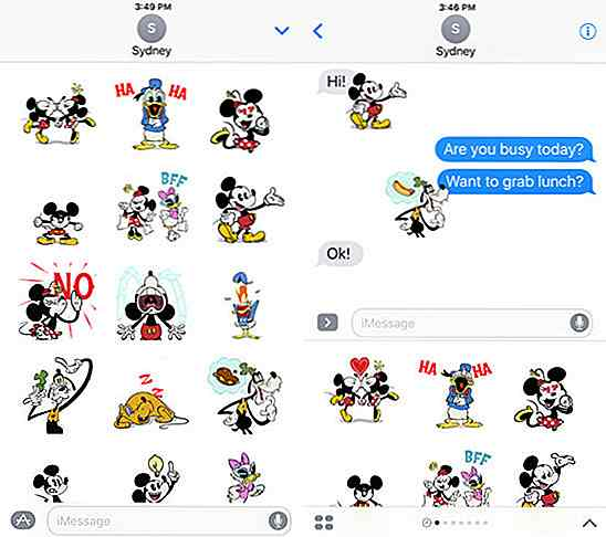 40 Awesome iMessages-klistremerkepakker for iOS 10