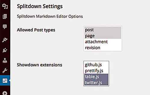 SplitDown: un editor fantasma para WordPress