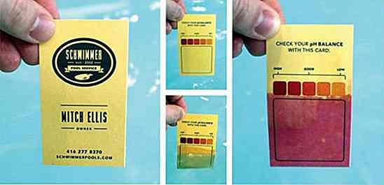 Schwimmer Pool Service Imprime Ses Cartes De Visite Sur Un Papier PH Spcial Que Les Clients Utilisent Pour Tester Niveaux Dquilibre Du Dans Leurs