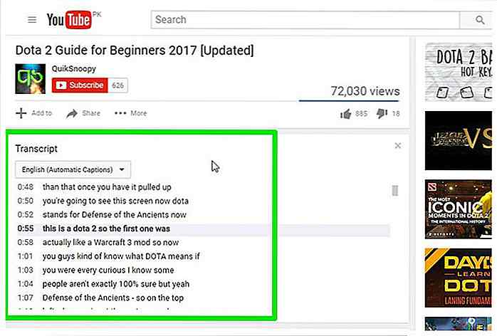 Cómo transcribir videos de YouTube automáticamente - es