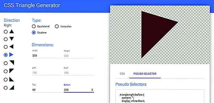 Créez des triangles CSS purs avec cette application Web