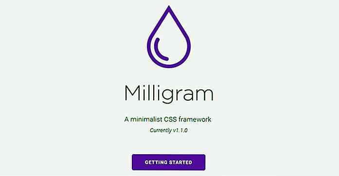 Milligram.css - Minimalist Frontend Library for Developers
