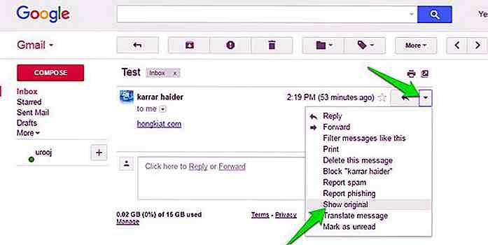 E-Mail-Suche auf der Website