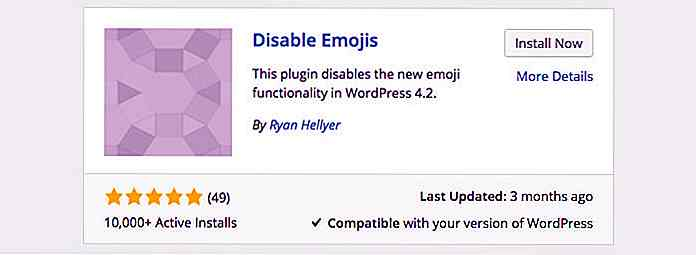 Come disabilitare le emoticon di WordPress