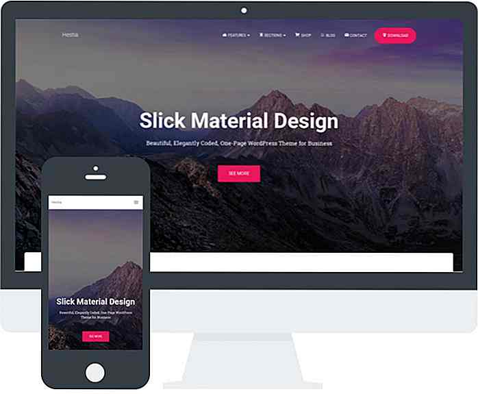 21 Top Material Design Temas de WordPress para 2018