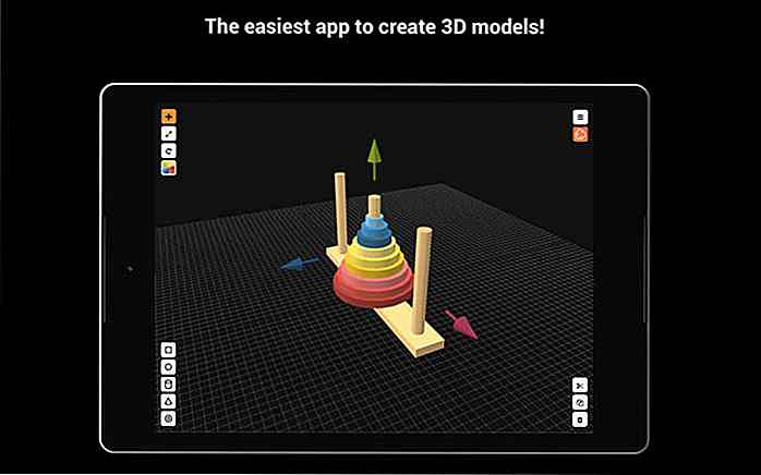 Huit applications mobiles pour la conception 3D et l'esquisse