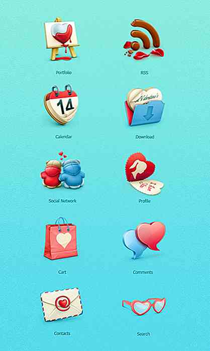 Valentinstag Ressourcen: 20 Icon-Sets, um Sie in die Stimmung