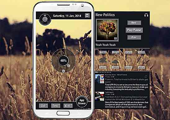 30 coole und individuelle Android Home Screens