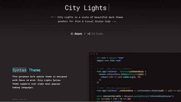 Agregue Dark Themes a Visual Studio Code & Atom con este paquete de UI