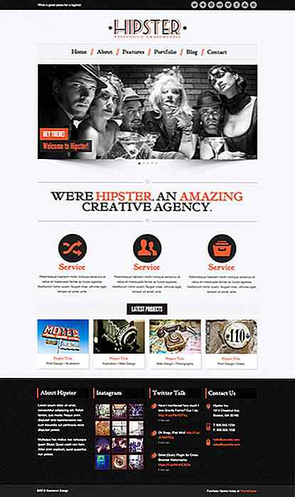 30 temas retros de WordPress para Hipsters
