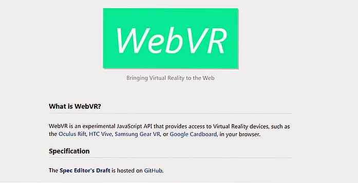 Crear realidad virtual en la Web con JavaScript y WebVR