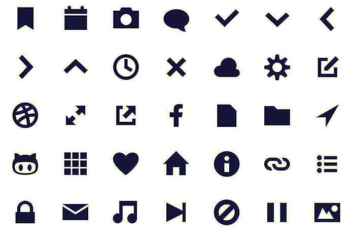 Geomicons: un único Iconset SVG codificado a mano