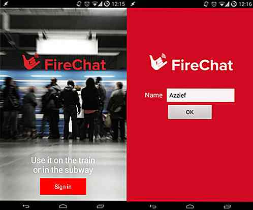Prova offline Messaging On Mobile con Firechat