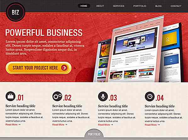 "Freebie Release: ""BiZ"" Business Website PSD Vorlagen"