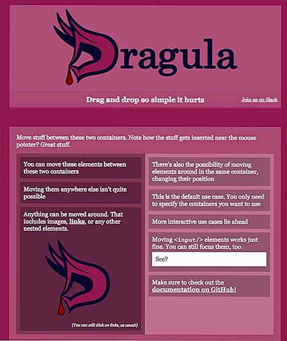 Agregue arrastrar y soltar al sitio web fácilmente con Dragula